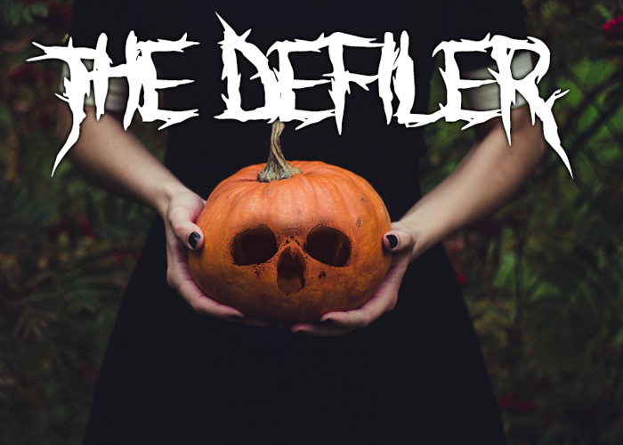 The Defiler Font poster