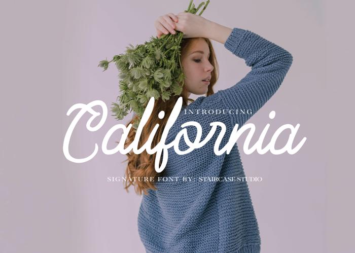 California Font poster