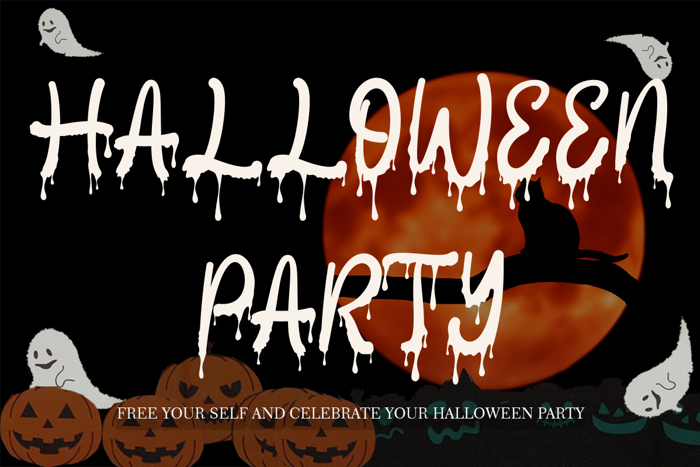 Halloween Party Font poster