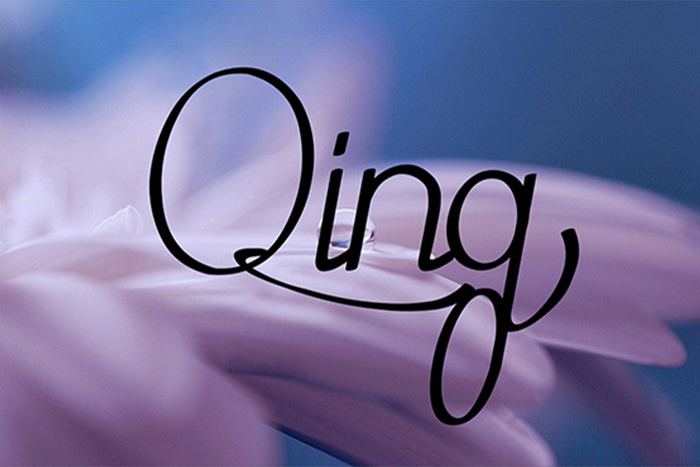 Qing Font poster
