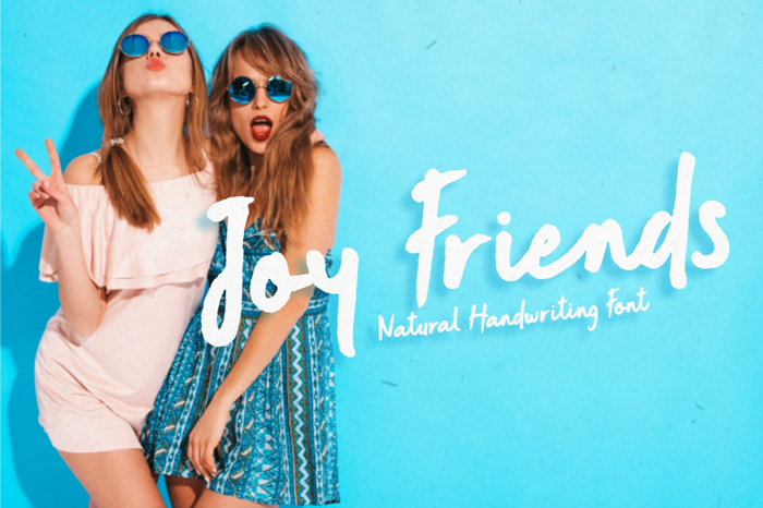 Joy Friends Font poster