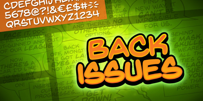 Back Issues BB Font poster