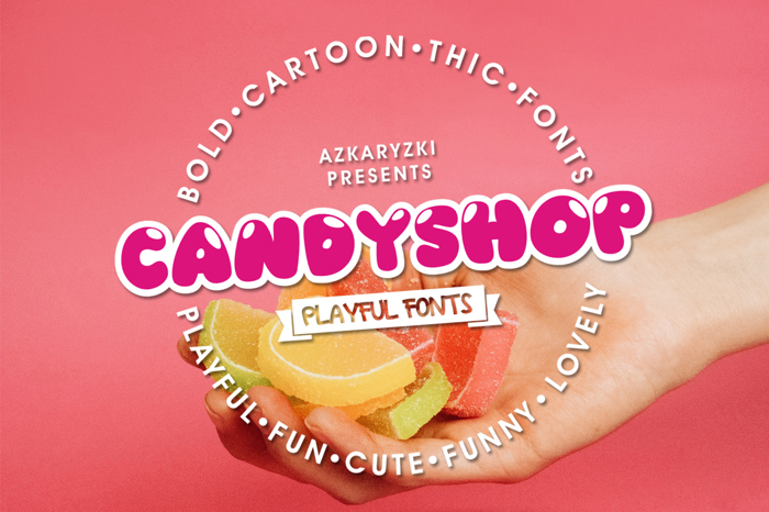 Candyshop Font poster
