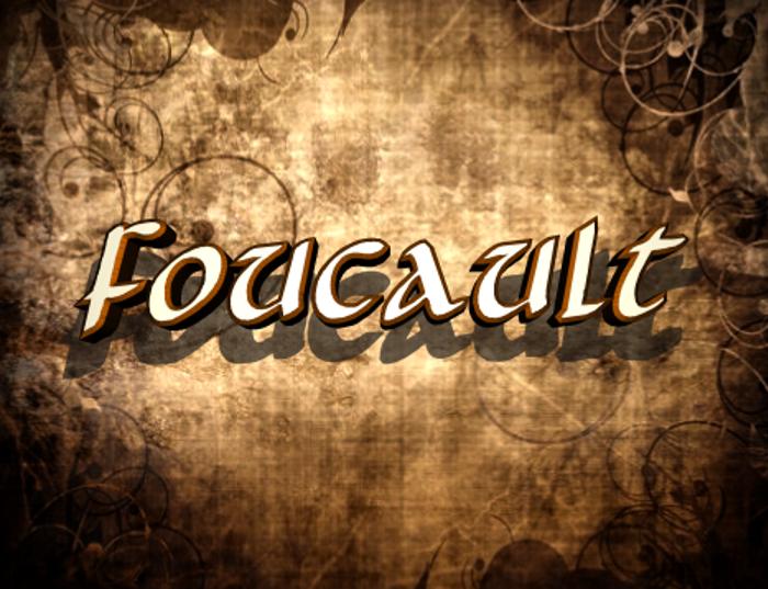 Foucault Font poster