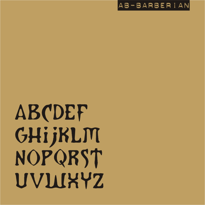 AB Barberian Font poster