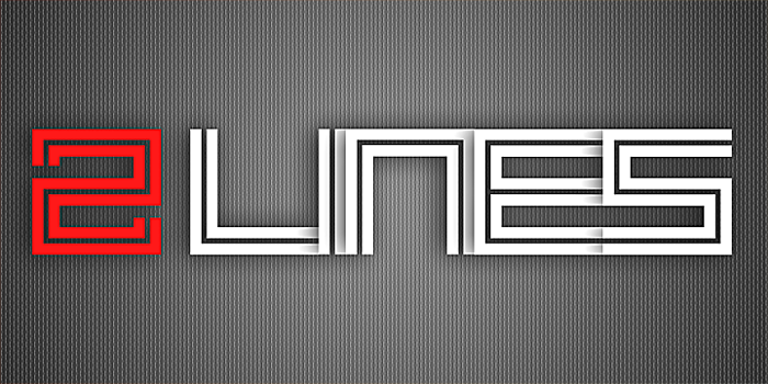 2 Lines Font poster