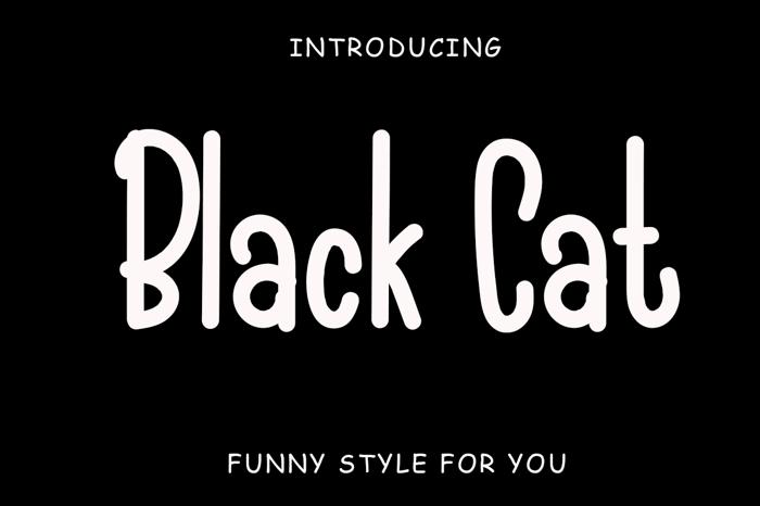 Black Cat Font