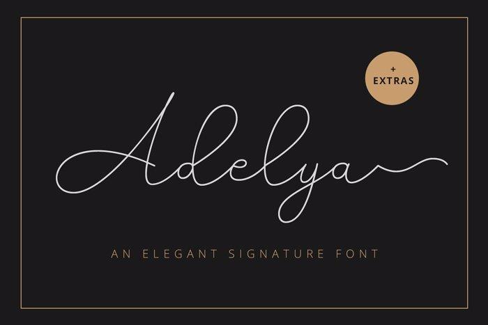 Adelya Font poster
