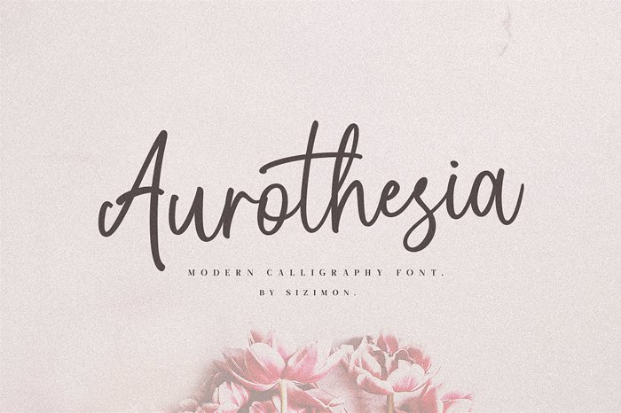 Aurothesia Font poster