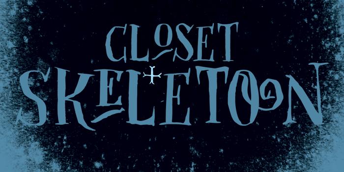 DK Closet Skeleton Font poster