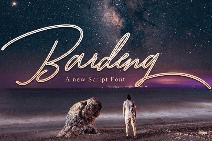 Bardeng Font poster