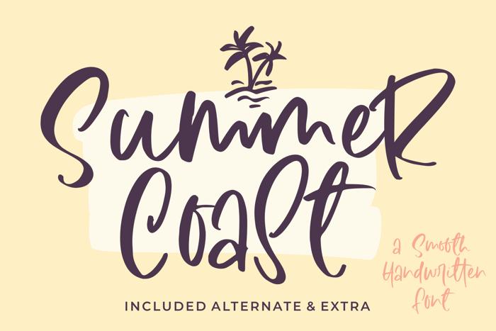 Summer Coast Font poster