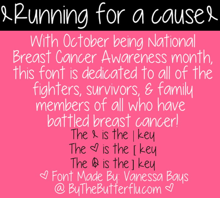 Running for a cause Font poster