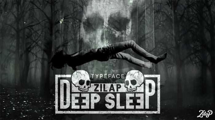 Zilap Sleep Font poster