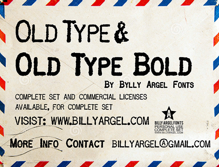 OLD TYPE Font poster