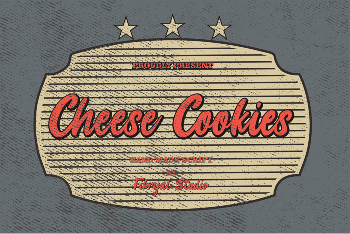 Cheese Cookies Font poster