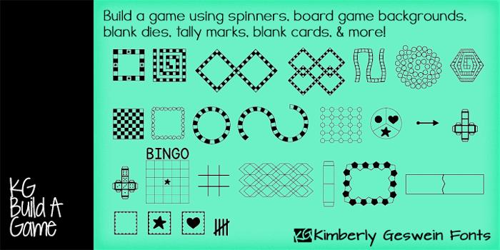 KG Build A Game Font poster