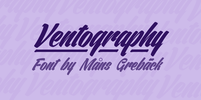 Ventography Font poster