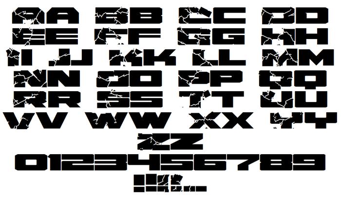Hulk Smash Font poster