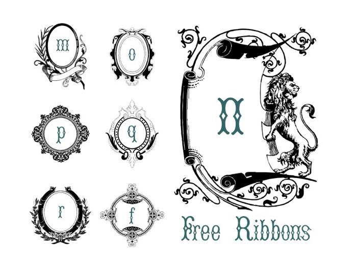 FreeRibbons Font poster