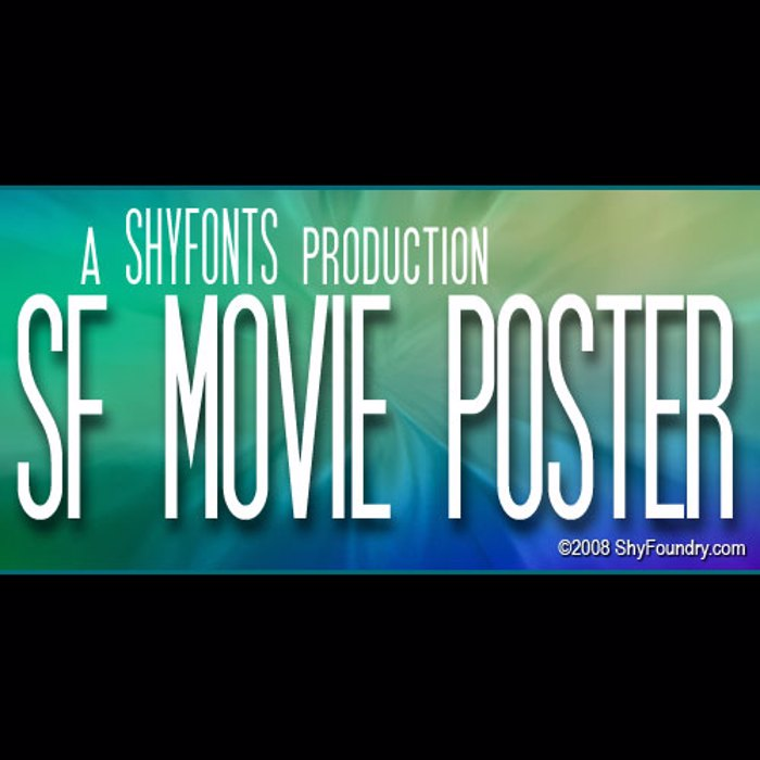 SF Movie Poster Font poster