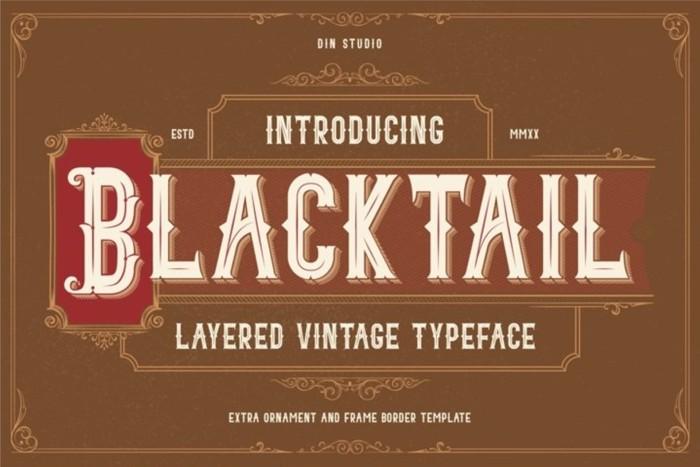 BLACKTAIL Font poster