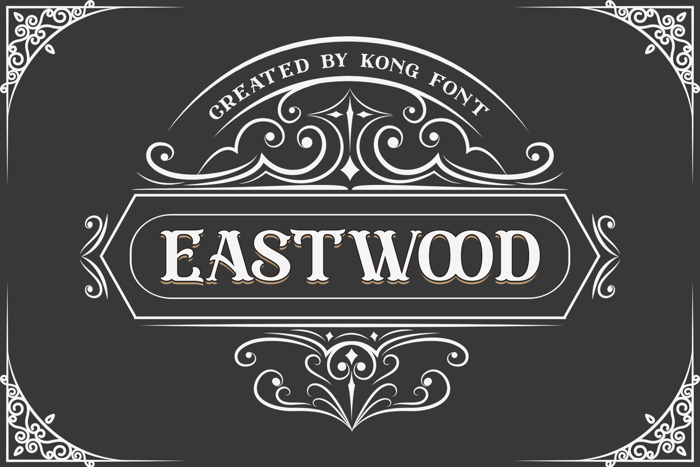 Eastwood Font poster