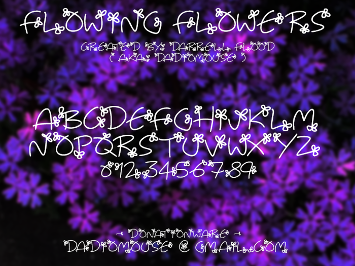 Flowing Flowers Font poster