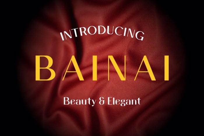 Bainai Font poster
