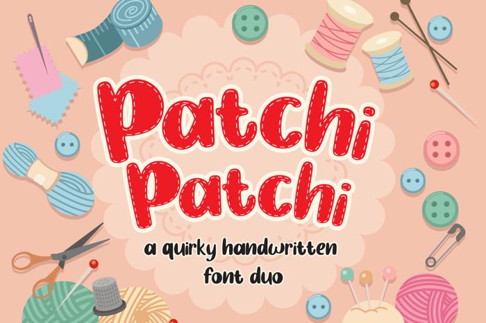 Patchi Patchi Font poster