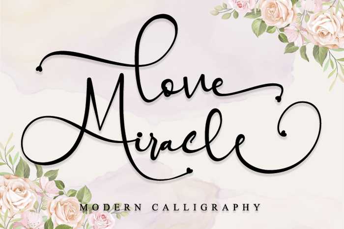 Love Miracle Font poster