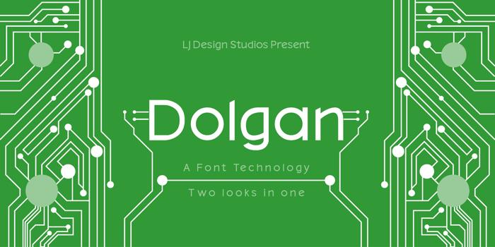 Dolgan Font poster