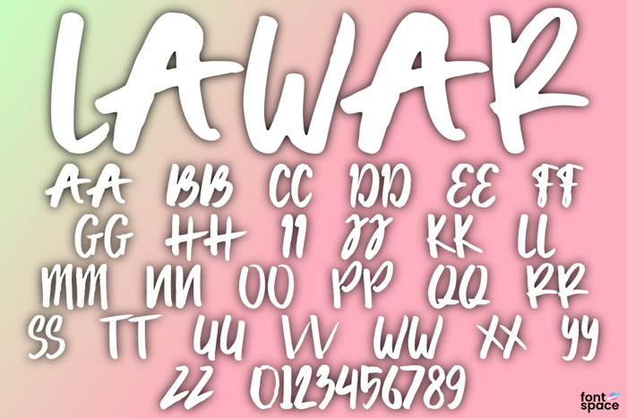 Lawar Font poster