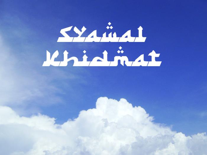 Syawal Khidmat Font poster