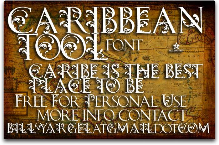 CARIBBEAN TOOL Font poster
