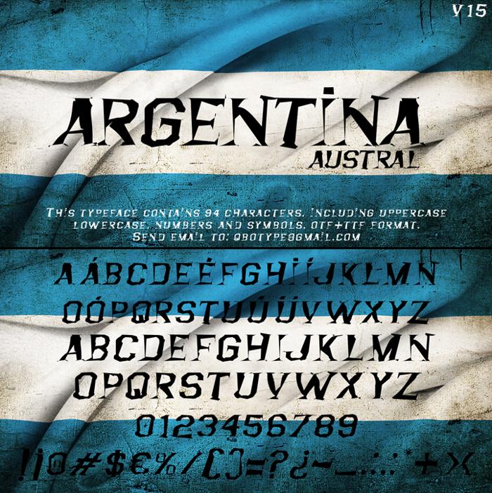 Argentina Austral Font poster