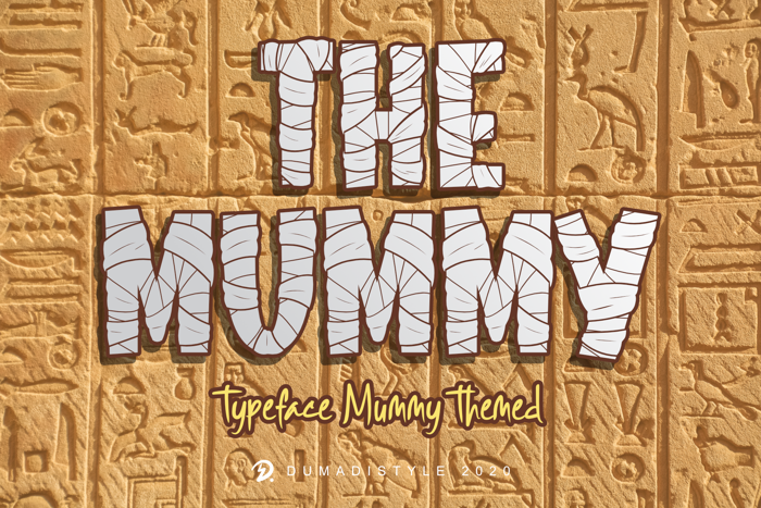 The Mummy Font poster