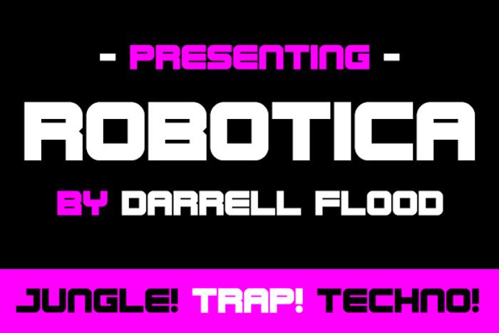 Robotica Font poster