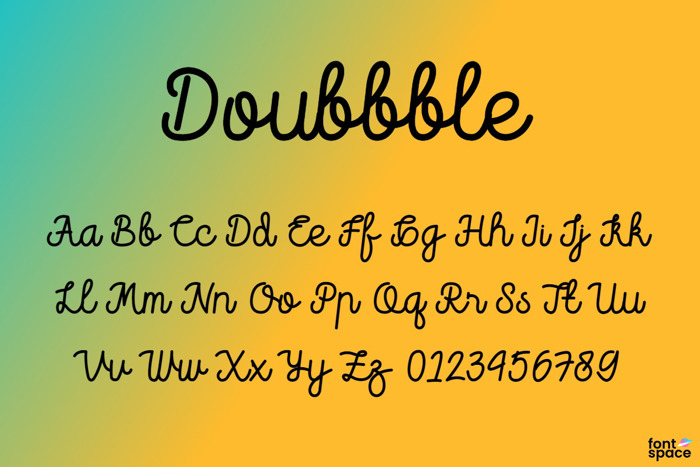 Doubbble Font poster