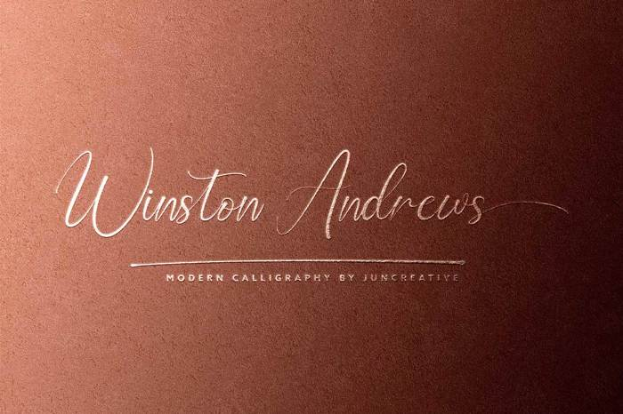 Winston Andrews Font poster