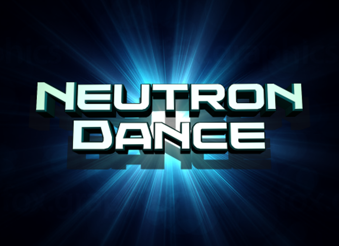 Neutron Dance Font poster