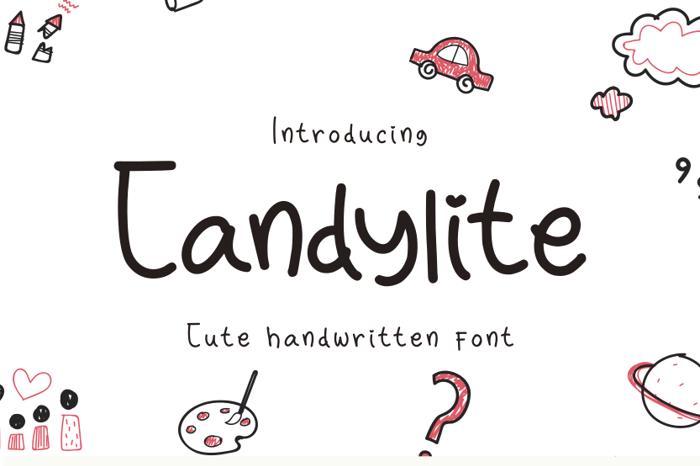 Candylite Font poster