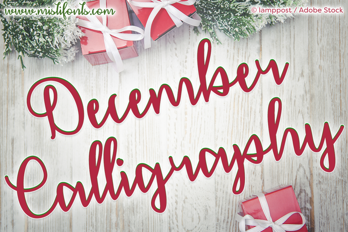 December Calligraphy Font poster
