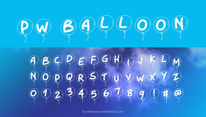 PWBalloon Font poster