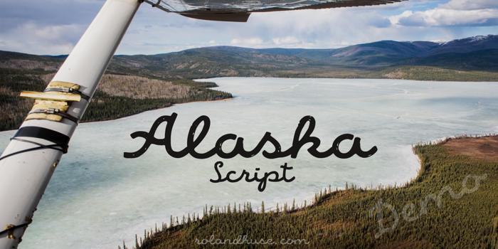 Alaska Script Font poster