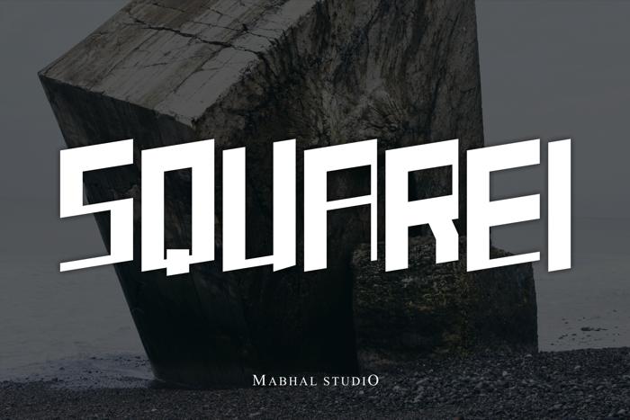 SQUAREI Font poster