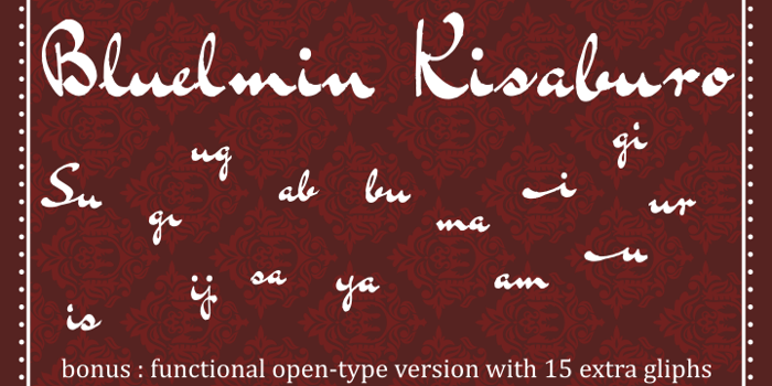 Bluelmin Kisaburo Font poster