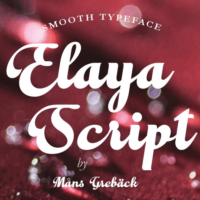 Elaya Script Font poster