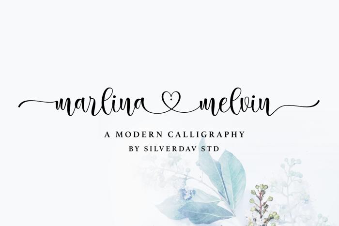 marlina melvin Font poster