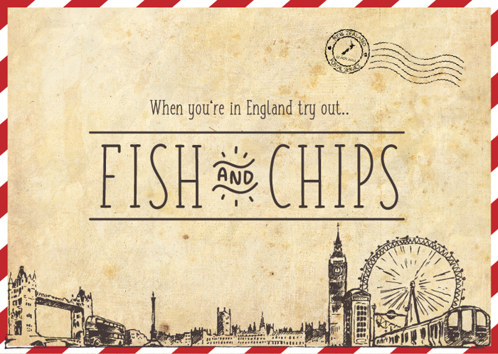 FISH & CHIPS Font poster